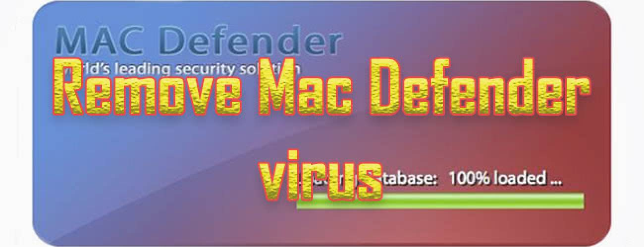 Remove Mac Defender virus from Mac OS X