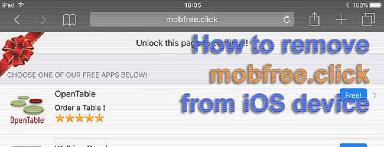 Remove mobfree.click redirect virus from iPhone and iPad