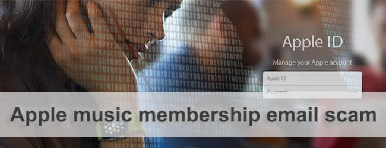 Apple music membership email scam - how to stop in 2016