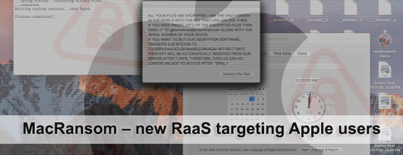 MacRansom – new RaaS targeting Apple users