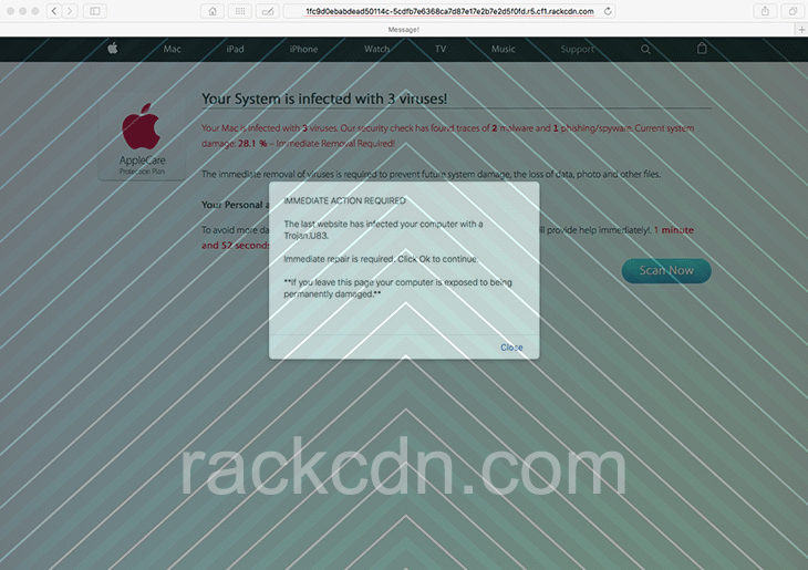 Remove rackcdn.com malware from Mac