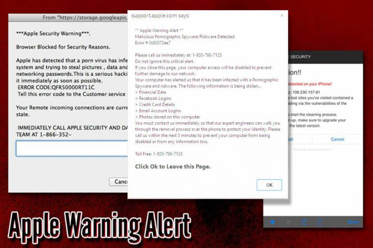 "Remove ""Apple Warning Alert"" about Pornographic virus on Mac"