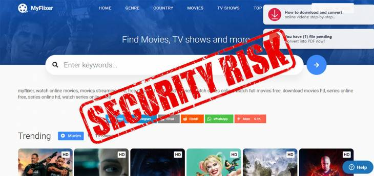 Is MyFlixer service legitimate and safe to use on Mac?