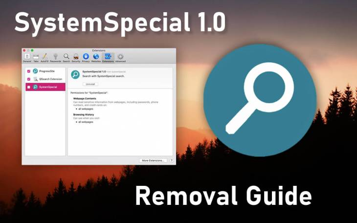 SystemSpecial adware removal from Mac