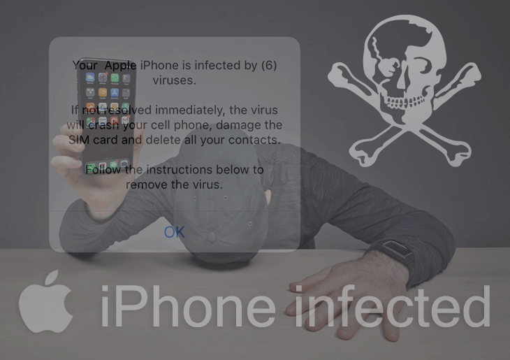 """Your Apple iPhone is infected"""" virus popups removal from"""