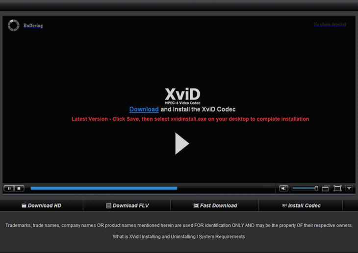 Xvid codec free download. Youtube.