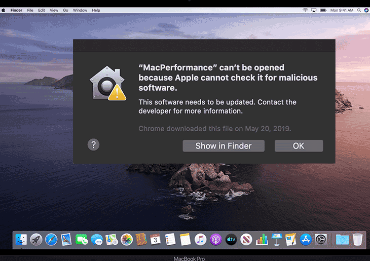 "Remove ""MacPerformance"" can't be opened..."" virus from Mac"